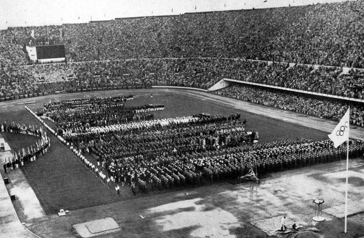 Ceremonia de apertura en Helsinki 1952