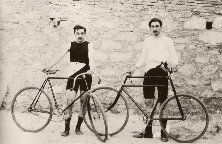 Ciclistas en los JJOO de 1896