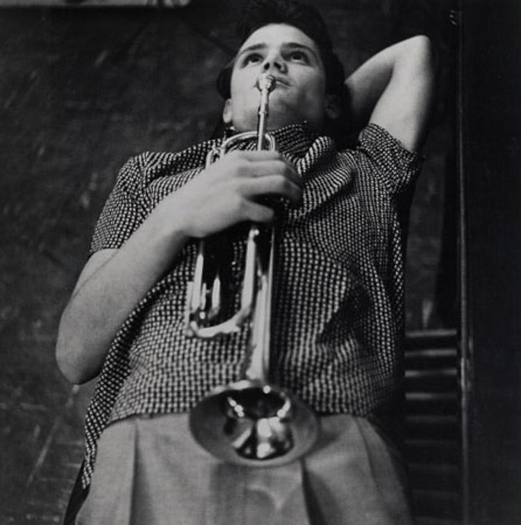 El trompetista de jazz cool Chet Baker