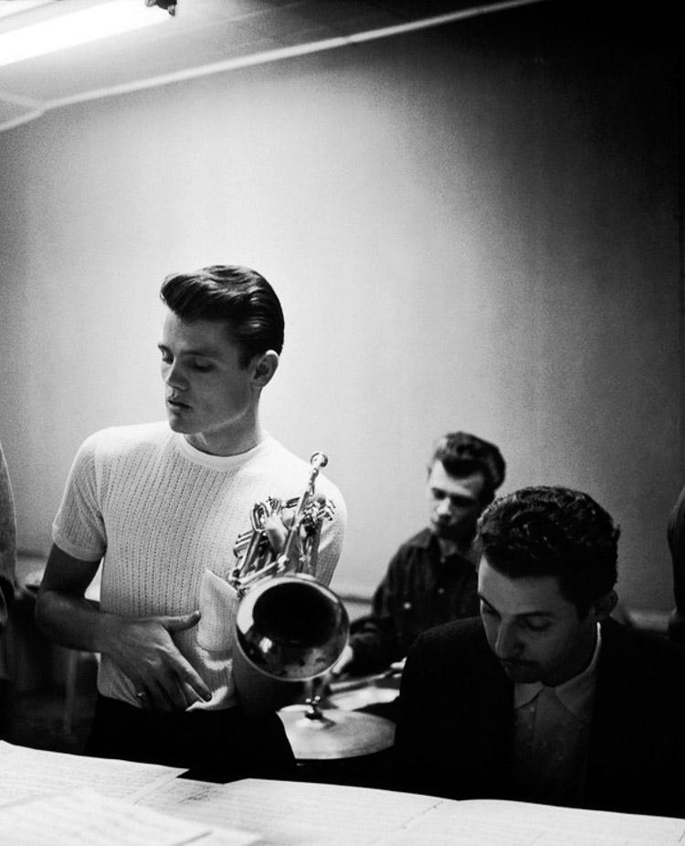 Backstage con Chet Baker