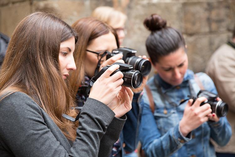 Alumnos de los cursos fotográficos