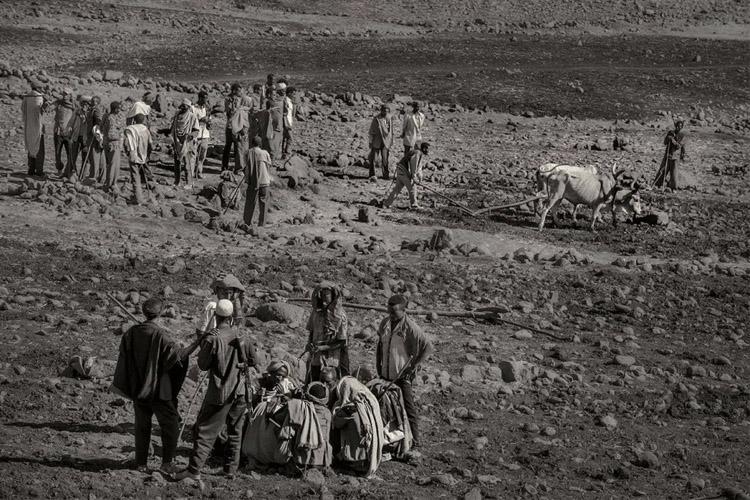Sequía Etiopía Lago seco