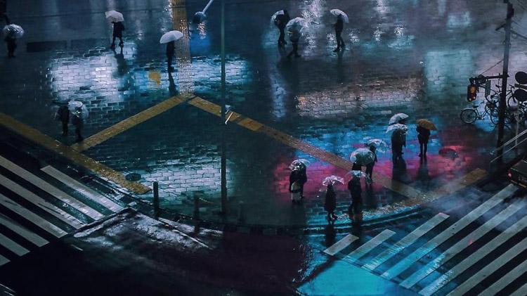 Lloviendo en Tokio. Liam Wong