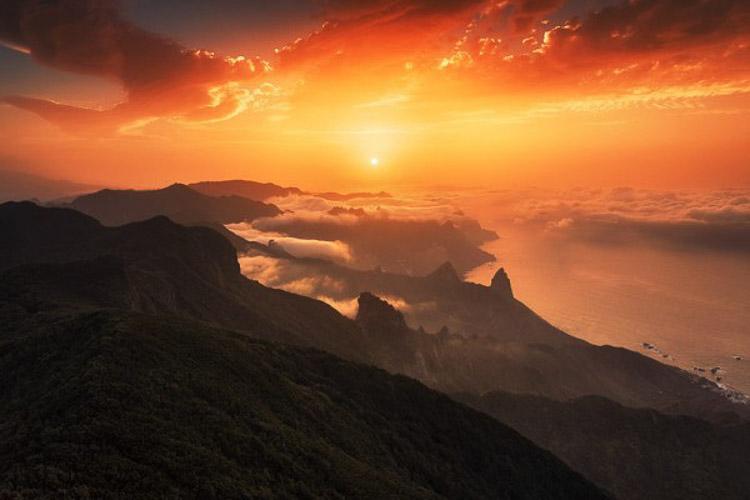 Atardecer en las Islas Canarias