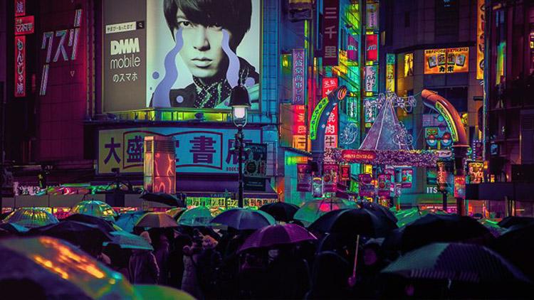 Paraguas en Tokio. Liam Wong