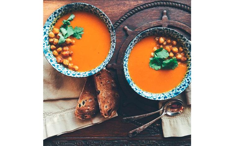 Fotografía gastronómica de comida vegetariana