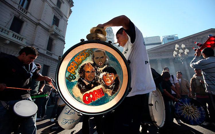 Músico con un tambor
