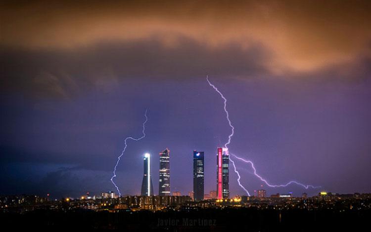 Tormenta sobre el Skyline de Madrid, Javier Martinez Moran