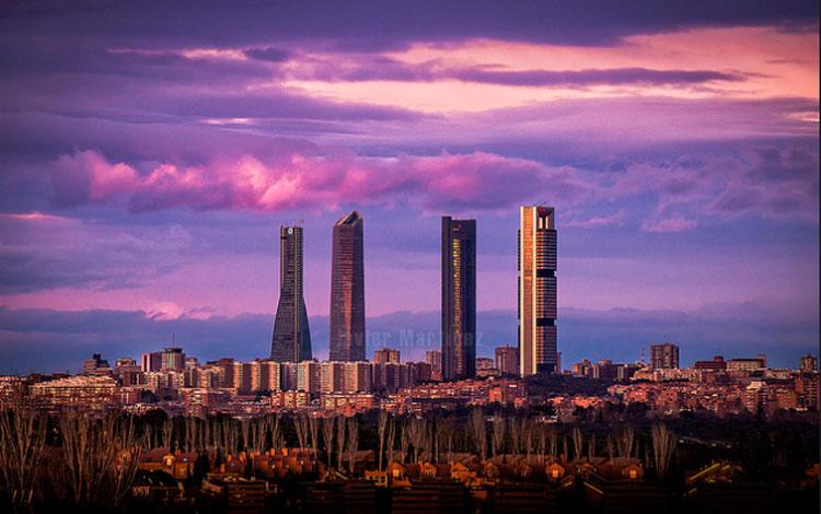 Último atardecer de marzo sobre el skyline de Madrid, Javier Martínez Moran