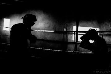 Boxeadores en el ring