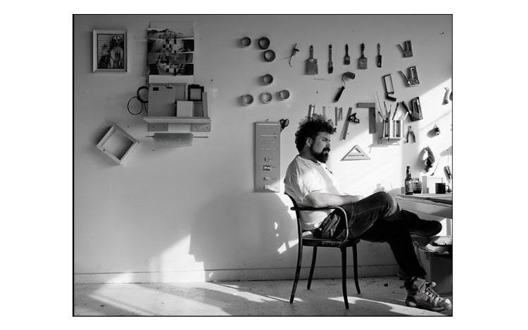 Federico en su estudio