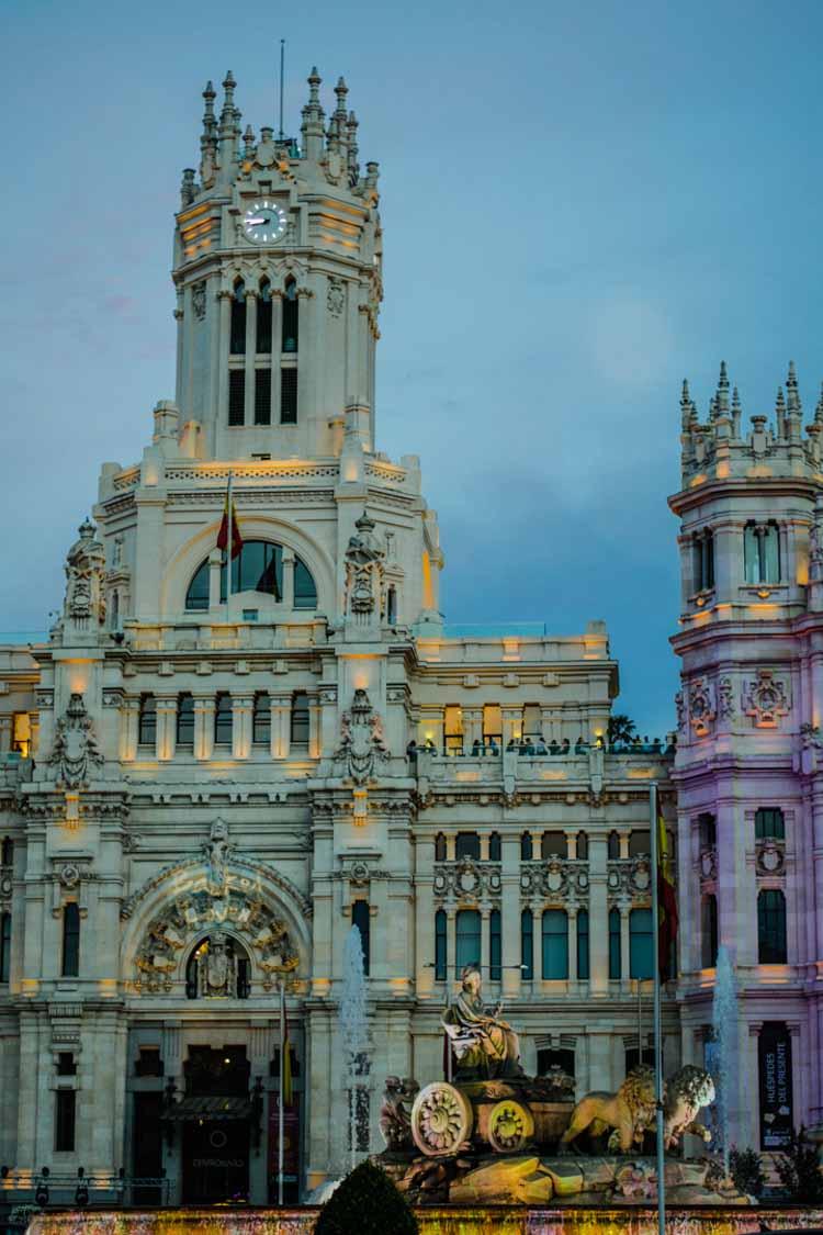 Cibeles al atardecer, Madrid