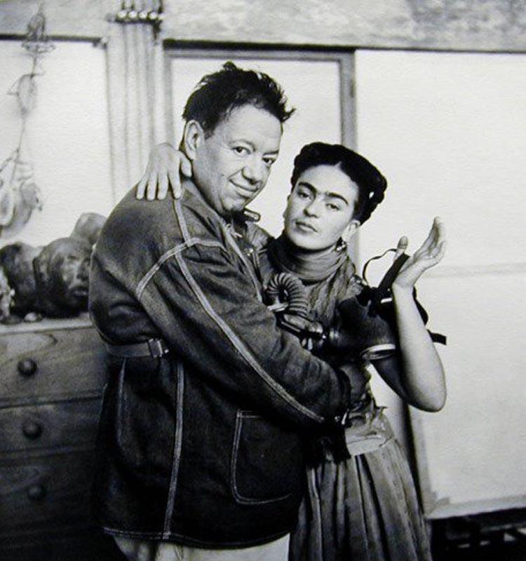 Frida Kahlo y Diego Rivera Nickolas Muray 1939