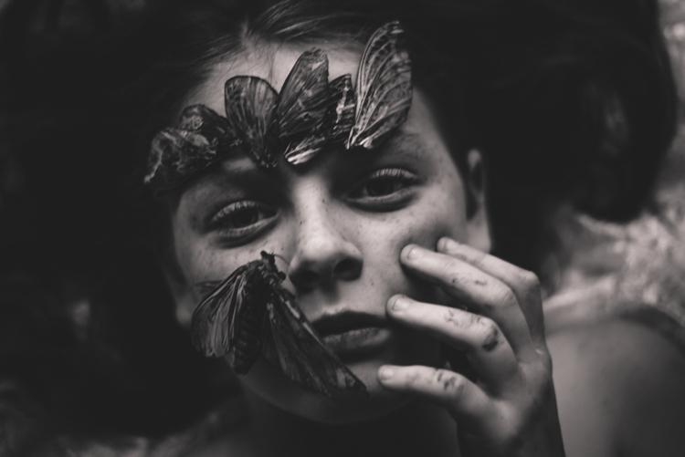 "BW Child Photo: ""The Moth"", Kelly Tyack (Australia)"