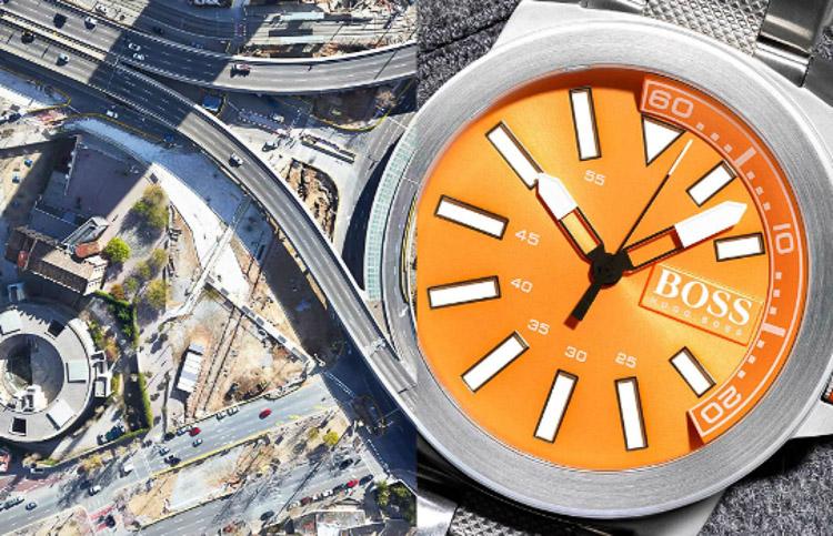 Reloj y rotonda