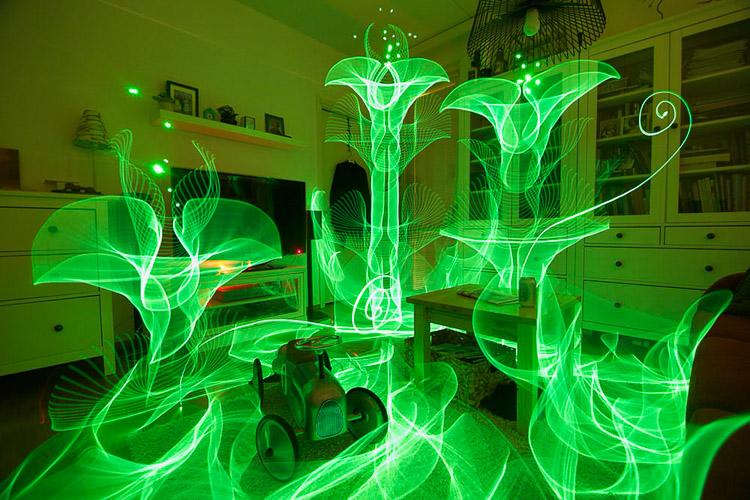 Jardín de luz en el salón