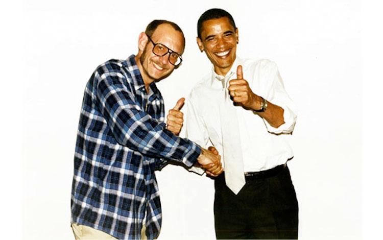 Terry Richardson y el ex presidente estadounidense Barack Obama