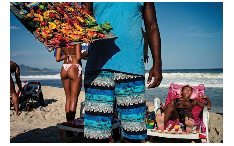 Gente en las playas brasileñas