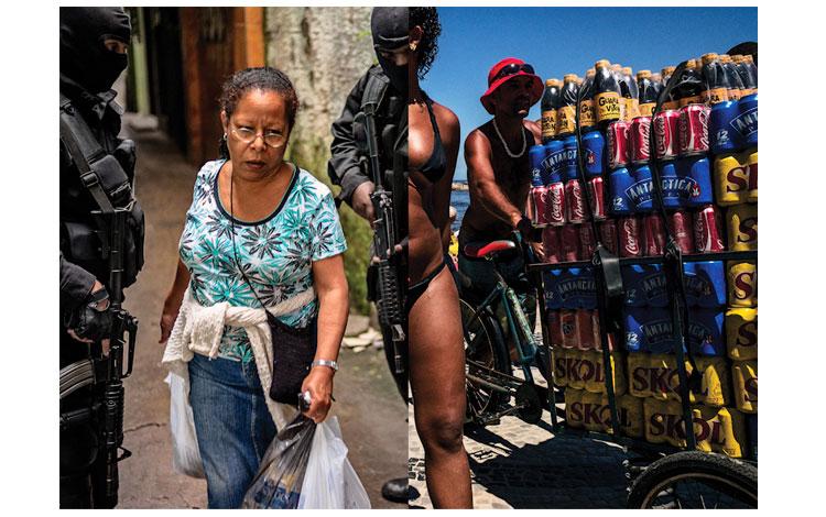 Unión de dos fotografías distintas sobre Brasil