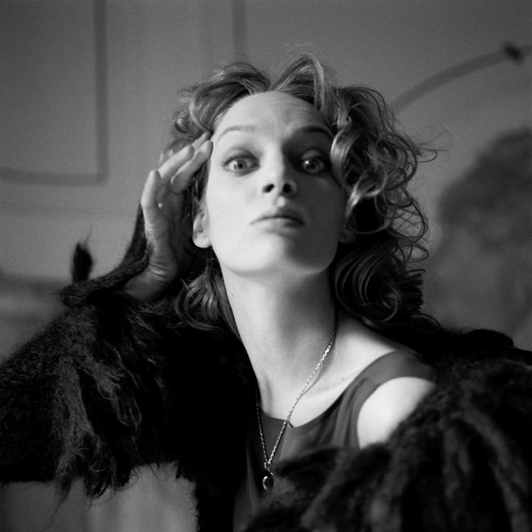 Michel Comte| Uma Thurman. Vogue Italia, 1996. Michel Comte: Portraits. DiChroma Photography
