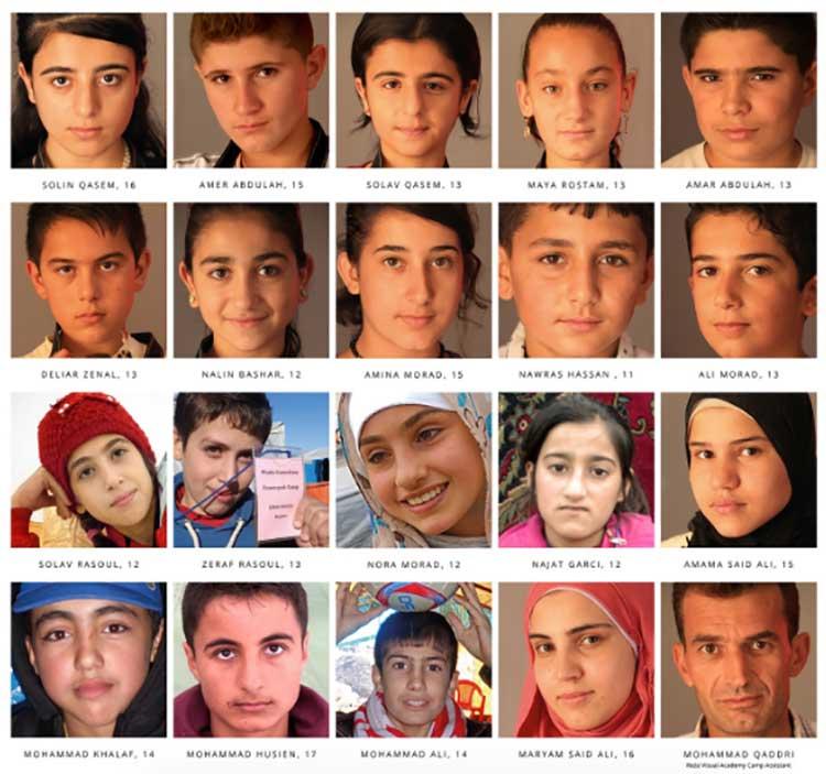 Algunos de los niñas que han participado con Reza Deghati desde 2013