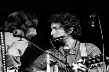 George Harrison y Bob Dylan