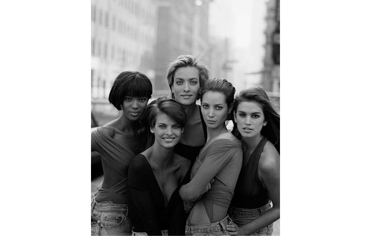 Naomi Campbell, Linda Evangelista, Tatjana Patitz, Christy Turlington, Cindy Crawford. New York, 1990   Peter Lindberg