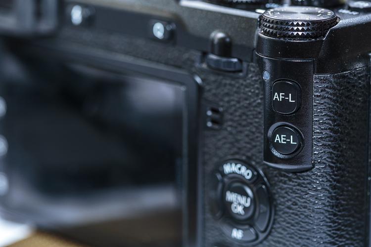 Detalle de cámara de fotos