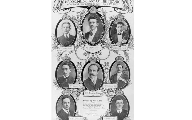 Miembros de la orquesta del Titanic