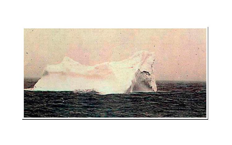 Posible iceberg con el que impactó el Titanic