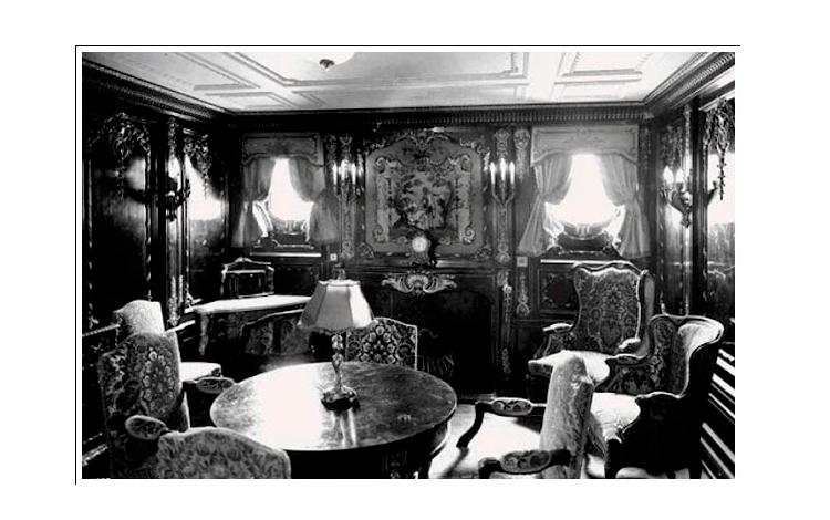 Camarote imperial del Titanic para primera clase
