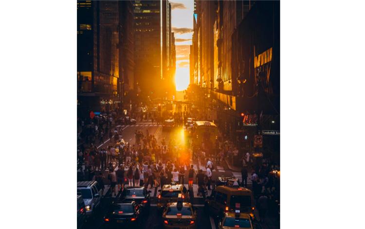 Manhattanhenge por Inna Shnayder