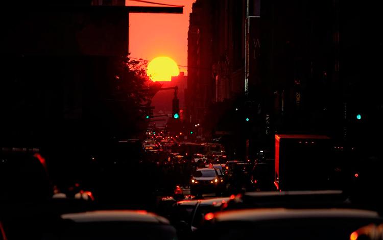 Manhattanhenge por Diana Robinson