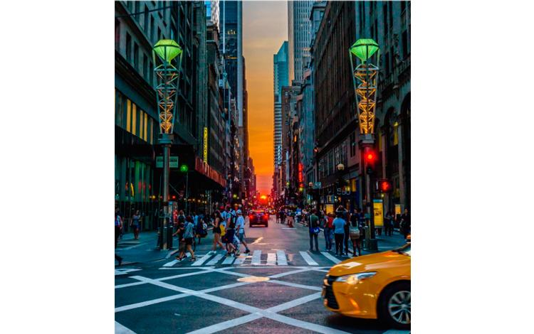Manhattanhenge por Killian Moore