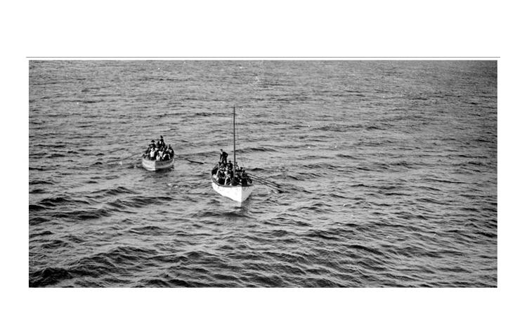 Botes con supervivientes