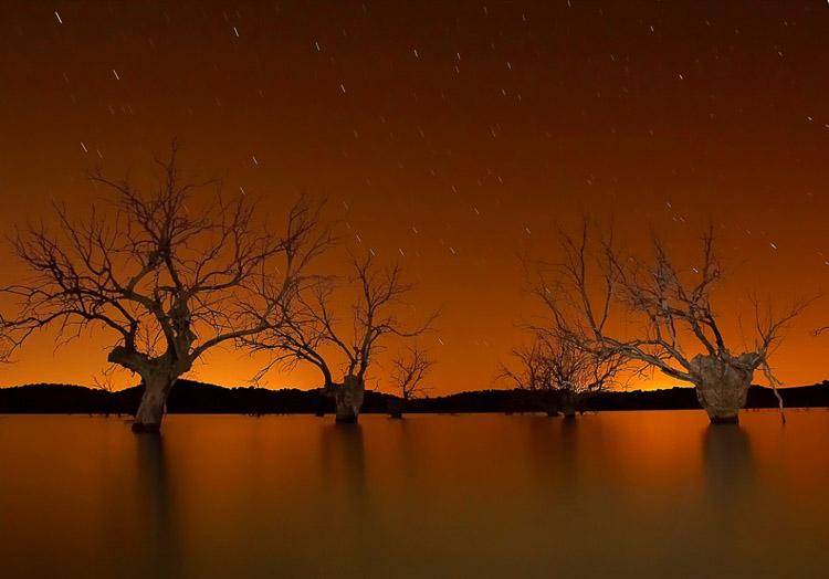 paisaje en tonos anaranjados