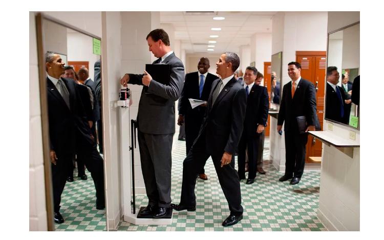 Obama en uno de los momentos más cómicos
