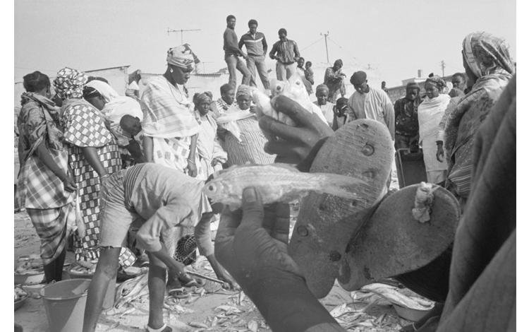 Africanos en playa