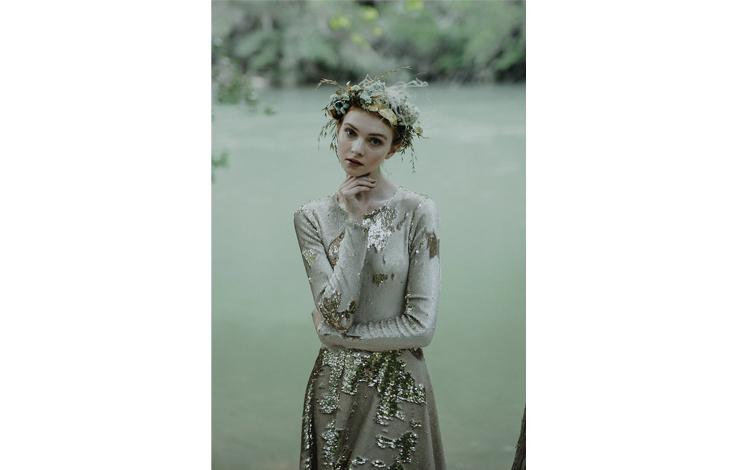 novia con vestido