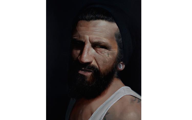 Rostro de hombre pintado