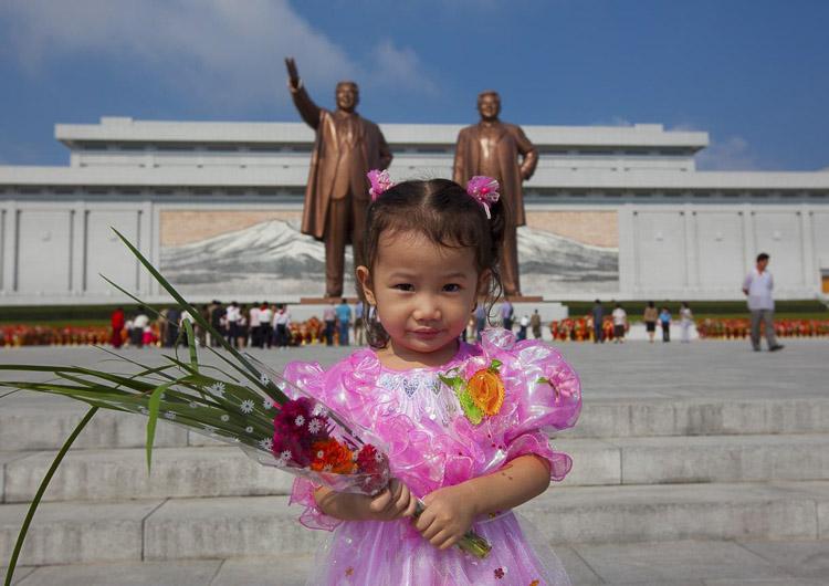 Niña pequeña norcoreana