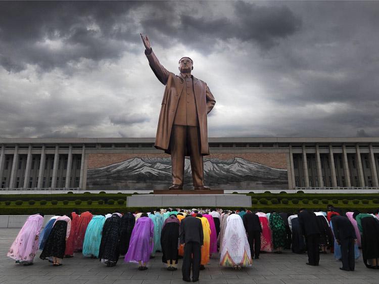 Norcoreanos ante el líder - Corea del Norte