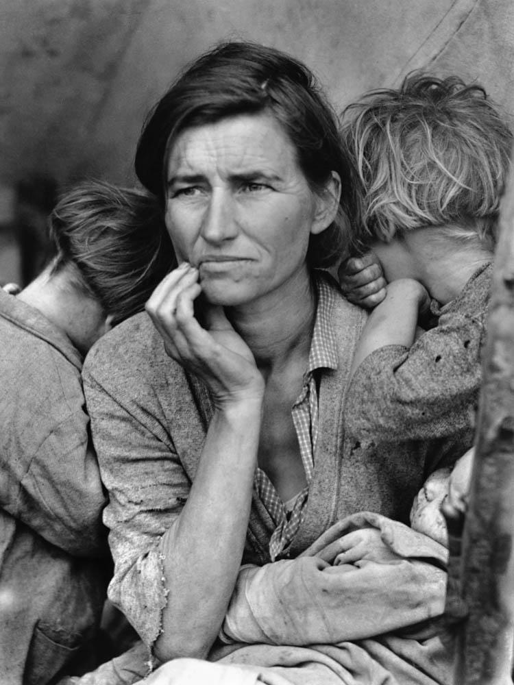 """Dorothea Lange, """"La madre migrante"""""""