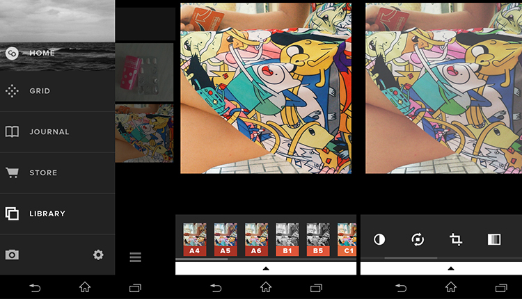 Pantallazo de la aplicación vscocam