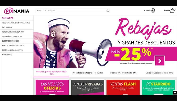 Interfaz Pixmania