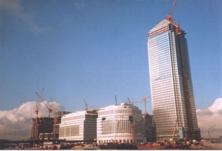 Canary Wharf en 1990