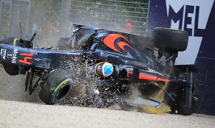 Fernando Alonso en el Gran Premio de Fórmula Uno en Melbourne(Australia)