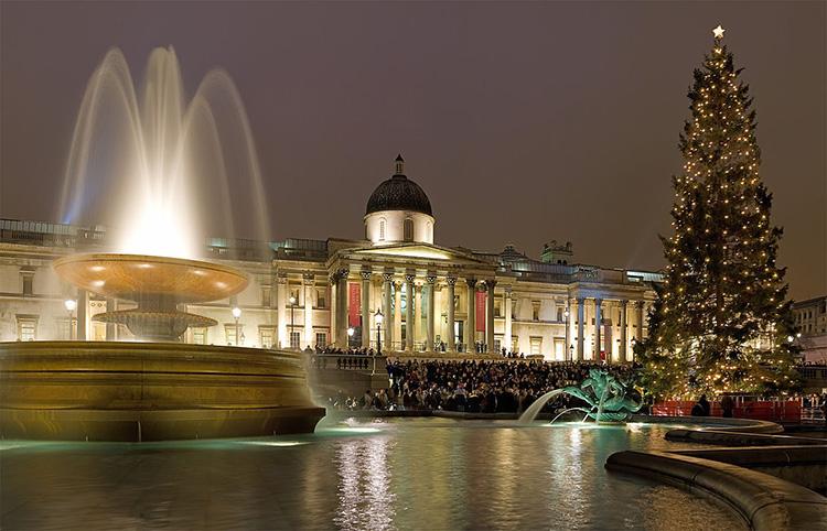 Trafalgar Square, árbol de Navidad