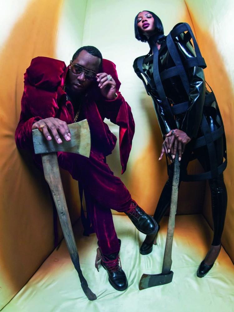 Puff Daddy y la modelo Naomi Campbell en el nuevo calendario Pirelli