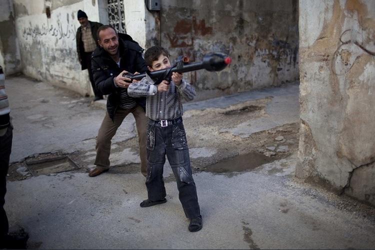 Los niños en la guerra de Siria